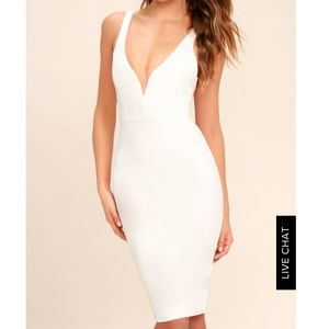 Lulus gracefully yours white dress